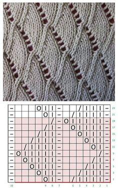 Lace knitting patterns K Lace Knitting Stitches, Lace Knitting Patterns, Knitting Charts, Loom Knitting, Knitting Designs, Knitting Needles, Baby Knitting, Stitch Patterns, Drops Design