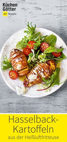 Hasselback potatoes from the hot air fryer Avocado Dessert, Avocado Salad Recipes, Hasselback Potatoes, Potato Recipes Crockpot, Baby Food Recipes, Healthy Recipes, Whole30 Recipes Lunch, Grilling Recipes, Eating Clean
