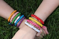 DIY Chain Friendship Bracelet tutorial by fashion and DIY blogger, Stripes & Sequins.