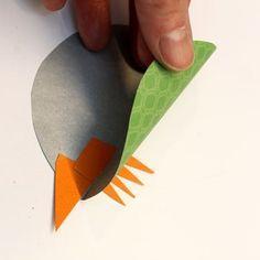Färgglad papperspippi - Slöjd-Detaljer Plastic Cutting Board, Mall, Tips, Easter, Pictures