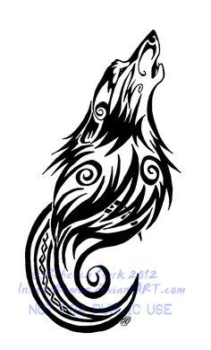 Tatouage tribal loup_25
