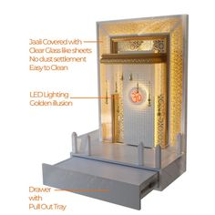 The Mandir Store manufacturer of Wooden Designer Mandir for Home with lights and decor supply across India and worldwide with COD facility on board.
