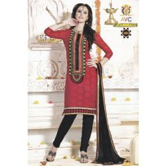 Embroidery Georgette Dress Material Stone Work with Lining Ishita Fashions S3012