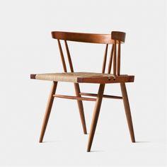 "vetustanova:  ""Grass Seat Chair by George Nakashima 1960"""