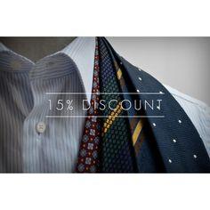 15% off selected ties and pocket squares.   www.sprezza.es  Sprezza.  #sprezza #ties #handmade #bespoke #fattoamano #italy #sales #napoli #gentleman #menswear #grenadine #spain
