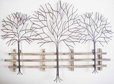 Really love this! Wall Art - Metal Wall Art Picture - Winter Tree Scene