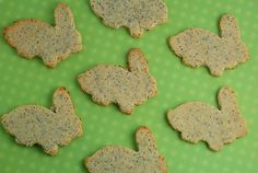 Easy Lemon Poppy Seed Bunny Cookies made with 7 ingredients. The perfect gluten-free cookie recipe for your Easter celebrations!