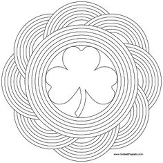 Don't Eat the Paste: Simple Shamrock and Rainbow Mandala to print and color