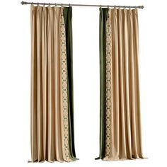 现代中式简约纯色米色拼接花边RY3客厅卧室会所定制窗帘窗纱成品-淘宝网