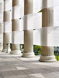 Nicolas Feldmeyer weaves an impressive installation through the portico of UCL
