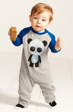 Tea Collection Romper & Trumpette Socks (Baby Boys)  available at #Nordstrom 32