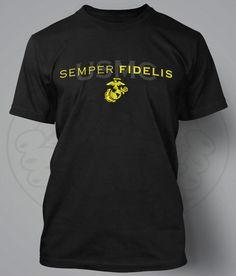 USMC - SEMPER FIDELIS performance t-shirt. Cost: $24.99  http://devildoggraphix.bigcartel.com/product/usmc-semper-fidelis-performance-t-shirt