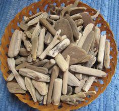 150 Pieces Driftwood--3 to 6 Bulk Drift Wood--Craft Supplies--Beach and Wedding Decor. $28.00, via Etsy.