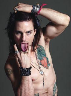 Tom Cruise as Stacee Jaxx from Rock of Ages by Mario Sorrenti for W magazine.