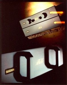 Sugden Au51c Pre-Amplifier with Sugden Au51cs Power Supply & Sugden Au51p Power Amplifier. (1990-1999)