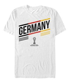 White Germany Stripe Tee - Men's Regular