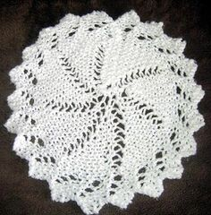 Free Knitting Pattern - Dishcloths & Washcloths : Lace Circular Cloth