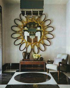 Steven Gambrel Elle Decor gilt wood mirror
