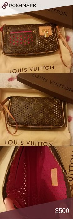 Authentic louis vuittion limited edition monogram perforated pochette shoulder handbag in excellent condition!!! Louis Vuitton Bags Shoulder Bags