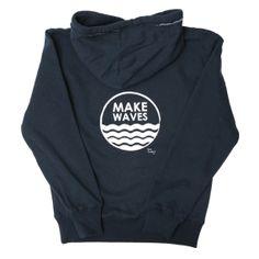 Make Waves Hoodie - Navy Blue