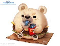 Cute Food Drawings, Cute Animal Drawings Kawaii, Kawaii Drawings, Disney Drawings, Pretty Animals, Colorful Animals, Animals Beautiful, Cute Animals, Cute Fantasy Creatures