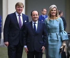 Guillermo y Máxima de Holanda reciben al Presidente de Francia, François Hollande