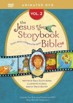 "[""The award-winning <i>Jesus Storybook Bible<\/i>, written by Sally Lloyd-Jones and illustrated by Jago, comes to life in this series of short animated videos. Each story whispers His name, sharing the story beneath all the stories in the Bible - the story of Jesus Christ. Narrated by British actor David Suchet, <i>The Jesus Storybook Bible: Volume 2<\/i> contains the final ten stories from the Old Testament: <br><br><ul><li>Ten ways to be perfect (Ten Commandments)<\/li><li>The warrior…"