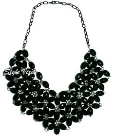 Want to look effortlessly elegant without splurging on a new blouse? Wear this flower-bib necklace on top of your plain dress/shirt and see the transformation Dress Shirt, Blouse, Plain Dress, Cool Things To Buy, Stuff To Buy, That Look, Flower, Elegant, How To Wear
