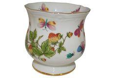 Porcelain Butterfly Vanity Jar on OneKingsLane.com