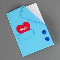 Tosi helppo isänpäiväkortti on valmistettu kartongista ja softis-kuvioista. 50th