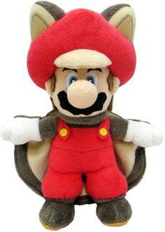 """Sanei Super Mario 9"""" Squirrel Musasabi Mario Plush Doll - #doll, Mario, Musasabi, plush, Sanei, Squirrel, Super"""