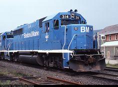 RailPictures.Net Photo: BM 314 Boston & Maine EMD GP40-2 at Oneonta, New York by Mike Stellpflug
