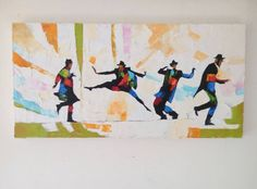 Jewish Dancers Oil oN Canvas pallette knife made by art4heart2014
