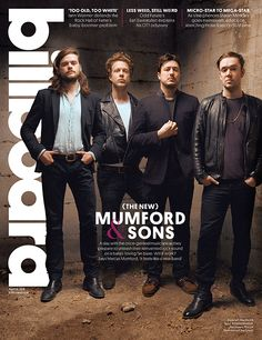 Mumford and Sons on the cover of Billboard Magazine April 2015 Issue