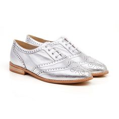 Albi silver vegan oxford brogue lace up flat shoe made from synthetic faux leather 100% Vegan, vegetarian and cruelty-free.