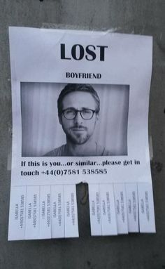 "Ryan Gosling ""Or similar"". Hahaha"