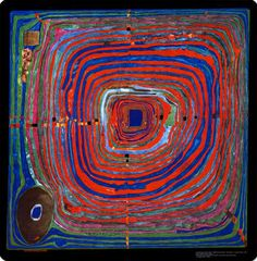 "Friedensreich Hundertwasser ""The Big Way"". Friedensreich Hundertwasser – was an Austrian architect and painter. Friedensreich Hundertwasser, Kunst Der Aborigines, Art Ancien, Fine Art, Aboriginal Art, Art Design, Art Plastique, Oeuvre D'art, Textile Art"