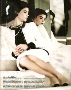 Audrey Tatou as Coco Chanel.