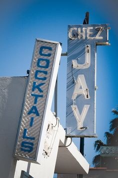 Chez Jay Cocktails ....Santa Monica California....I used to walk past here often when I lived nearby.