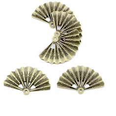 * Penny Deals * - Qty:1PC Antique Bronze Jewelry Making Charms Findings Supplies Craft Ancient Repair Lots DIY Antique Pendant Vintage Z72271 Chinese Fan >>> Click image to review more details.
