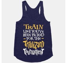 Train Like You've Been Picked For The Triwizard Tournament geeky workout wear from ActiveApparel. - Tap the pin if you love super heroes too! you will LOVE these super hero fitness shirts! Harry Potter Outfits, Harry Potter Love, Workout Tanks, Workout Gear, Workouts, Funny Workout, Workout Style, Workout Humor, Workout Fitness