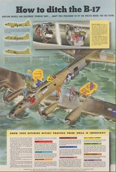 How to ditch the Flying Fortress. How to ditch the Flying Fortress. Military Jets, Military Weapons, Military Aircraft, American Air, Military Drawings, Ww2 Planes, Aircraft Design, Ww2 Aircraft, Aviation Art