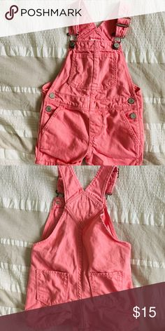 Baby Gap Overall Shorts Excellent condition. Months Bright Pink So cute! GAP Other Baby Gap, Overall Shorts, Bright Pink, Overalls, Kids Shop, Rompers, Cute, Closet, Things To Sell