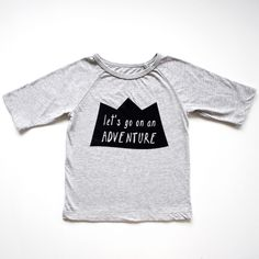 Limited edition grey marlethree quarter sleeve organic cotton Let's go on an ADVENTURE tee. Dedicated to little adventurers everywhere. Your kiddo is already a cuteface, our tees just let them be comfy as they explore and investigate and spend their days learning. Team them with a pair ofshortsor askirtor ournappy pantsfor instant magic! Nothing says …
