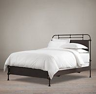 French Académie Iron Bed without Footboard | Metal Beds | Restoration Hardware