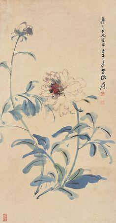 张大千 白牡丹 by China Online Museum - Chinese Art Galleries, via Flickr