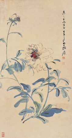 张大千 白牡丹 by China Online Museum - Chinese Art Galleries, via Flickr