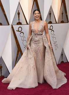 noneGina Rodriguez arrives at the Oscars on Sunday, March 4, 2018, at the Dolby Theatre in Los Angeles. (Jordan Strauss/Invision/AP)