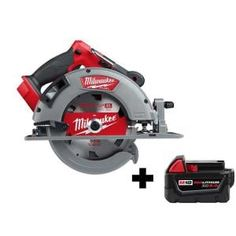 Milwaukee M18 FUEL 18-Volt 7-1/4 in. Lithium-Ion Cordless Rear Handle Circular Saw Kit with 12.0 Ah Battery and Rapid Charger-2830-21HD - The Home Depot Milwaukee Tools, Cordless Circular Saw, Circular Saw Blades, Table Saw Stand, Cordless Tools, Electronic Recycling, Led Work Light, Battery Sizes
