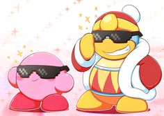 Kirby and King Dedede are looking awesome with those shades.